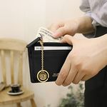 D.LAB Coin simple card wallet  - Black