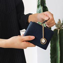 별자리 키링+ D.LAB Coin Half wallet  - Navy
