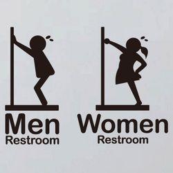 생활스티커퍼니 픽토그램 화장실 남녀