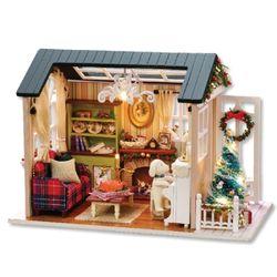 [adico]DIY 미니어처 하우스 - 레트로 크리스마스