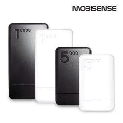 Mobisense 2포트 10000mAh 보조배터리화이트블랙