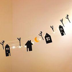 LED 와이어전구 달밤 가랜드