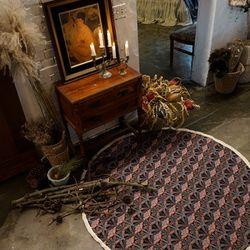 세잔느 라운드 프린지매트:Cezanne round fringe mat