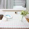 레트로 민트 패턴 면식탁보 4인용