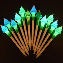 LED점등 크리스마스 트리볼펜 [12개한팩]
