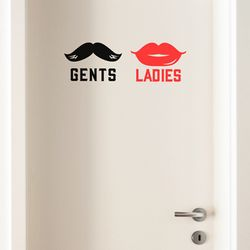 ladies gents 화장실 스티커