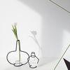 Nude Vase (H250) + Glass Vase