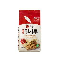 큐원 밀가루 중력(다목적용)밀가루 3kg