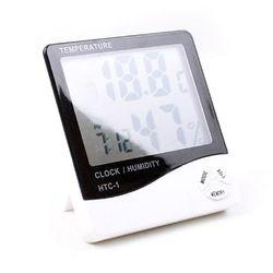 심플 대형화면 디지털 온습도계 탁상시계 HTC-1