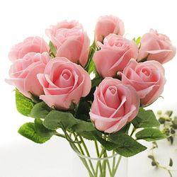 비누꽃 10송이 장미부쉬-러블리핑크