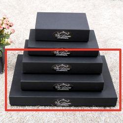 포장 상자-블랙싸바리상자  직사각납짝대형 Box E6