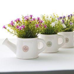 스타별꽃 물조리개도자기화분-3color