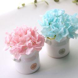 수국비누꽃 우유병도자기세트-6color
