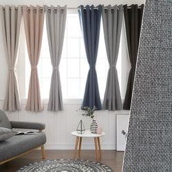 뉴린넨룩모카 호텔식 창문 암막커튼 2장(260x170cm)