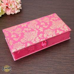 천년국화 비단 예단상자-연분홍색