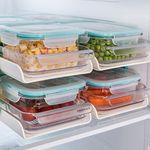 [무료배송] 락앤락 냉장실 정리2단선반+밀폐용기6종세트
