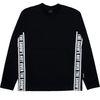 STRAP LONG T-shirt BK WH