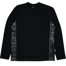 STRAP LONG T-shirt BK BK