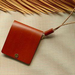 [천연소가죽] 리벳 목걸이 카드지갑