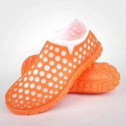아쿠아슈즈 하이브리드 네온오렌지 화이트 여성 신발