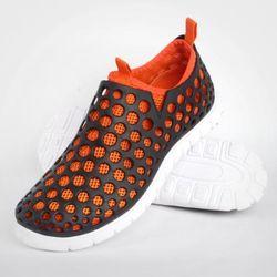 아쿠아슈즈 하이브리드 운동화 블랙 오렌지 여성 신발