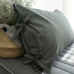 선염 리본 베개 -40x60cm솜포함