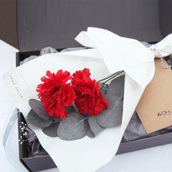 메르시 꽃다발세트-레드(꽃다발&선물포장세트)