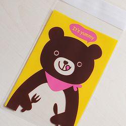 [대용량]접착opp-먹을준비되있는 야미곰 500장