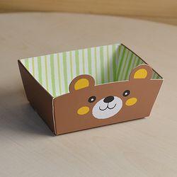 [대용량] 미니트레이-양면 곰(비닐타이세트) x 100p