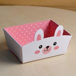 [대용량] 미니트레이-양면 토끼(비닐타이세트) x 100p