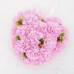 향기가득 하트카네이션 비누꽃