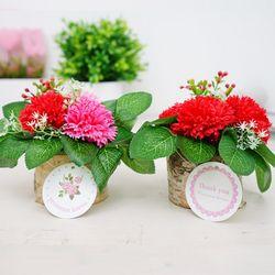 감동 자작나무카네이션 비누꽃
