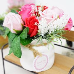 실물깡패 로즈믹스 비누꽃