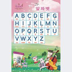 동화배경 유아교육용포스터 학습벽보 뿡짝뿡짝 알파벳