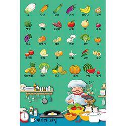 동화배경 유아교육용포스터 학습벽보 채소와 과일