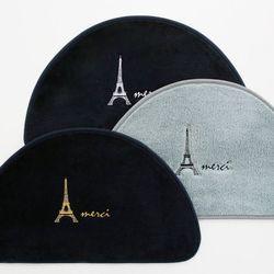 에펠탑 자수 반달 발매트
