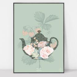 토쿠 아트포스터 Afternoon tea 3 (50x70)
