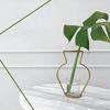 Nude Vase ( H200 - GOLD ) + Glass Vase