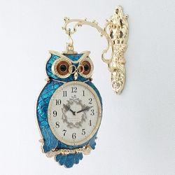 데일리데코 똑똑이 부엉이 양면시계