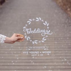 아크릴 웨딩피켓 Wedding