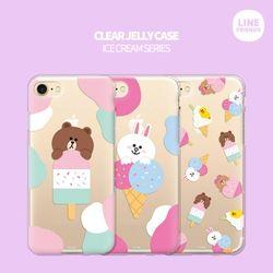 [무료배송] 라인프렌즈정품케이스 투명젤리 아이스크림시리즈