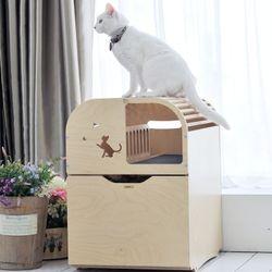 고양이원목화장실 리브 유니크_완성형 (풀옵션)