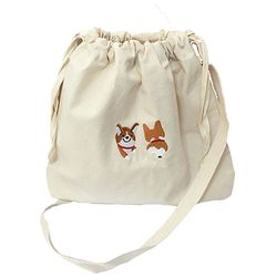 happy corgi bucket bag