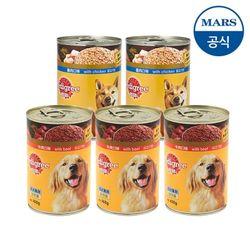 [무료배송] 페디그리 캔 쇠고기닭고기 400g X5강아지사료