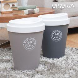 비스비바 커피 원형 휴지통 9L 2종택1