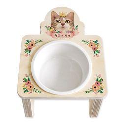 플라워 15도 리스식탁(중형16cm-고양이 9종)