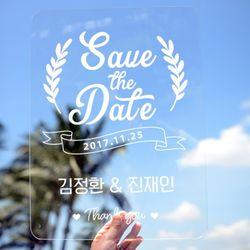 아크릴 웨딩피켓 Save the Date2