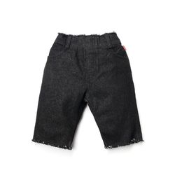 BLACK SKINNY SCRATCH SHORT
