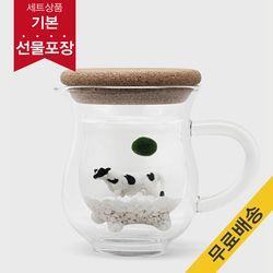 [마리모 가든]젖소컵 마리모