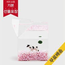 [마리모 가든]딸기 우유팩 마리모